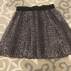 Leopard Print Skirt from Maurices